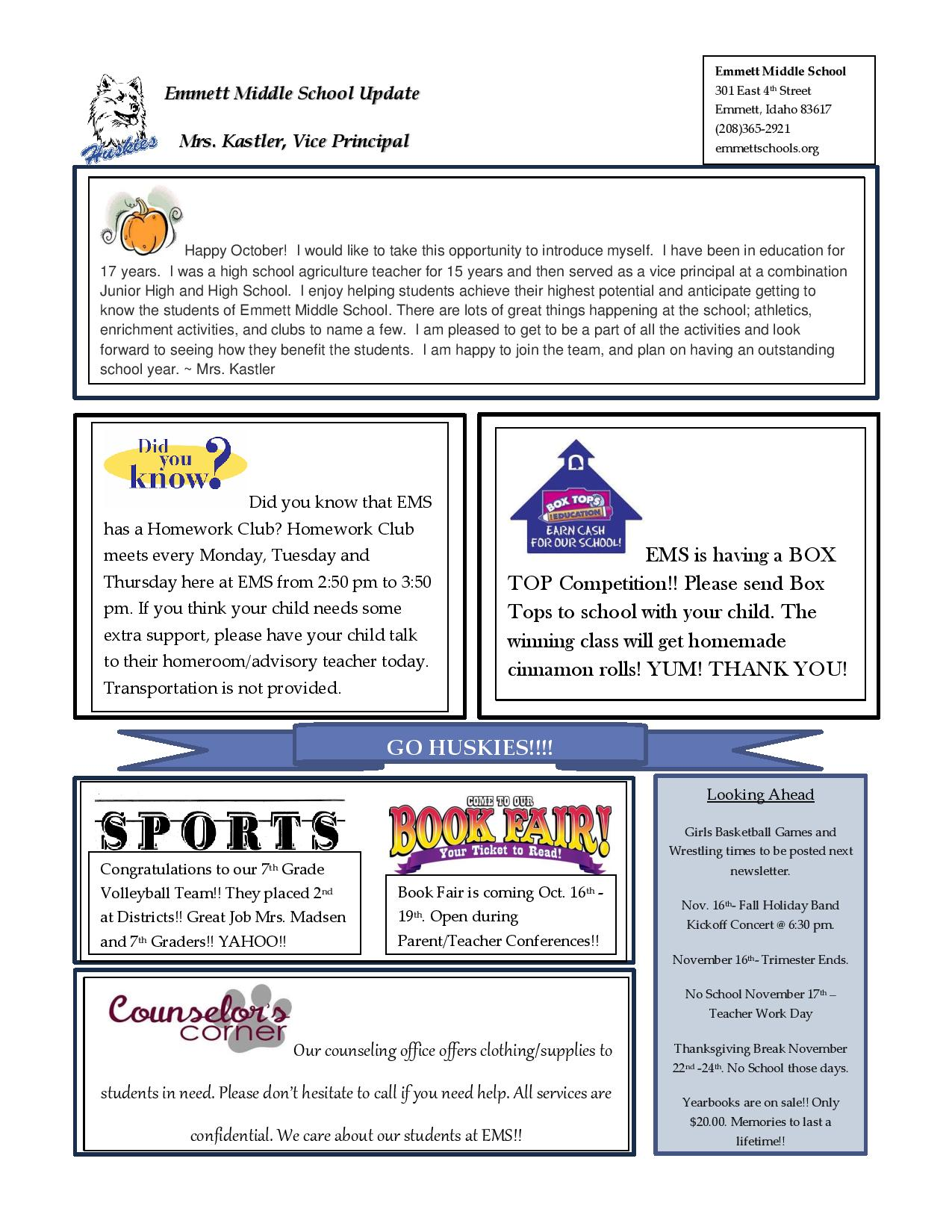 emmett middle school homepage