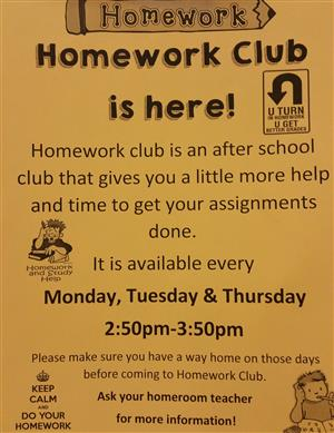 Homework Club is here