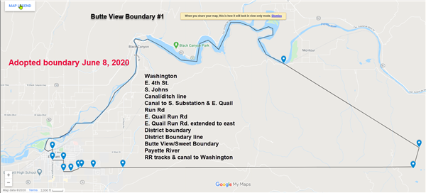 Boundary map for Butte View