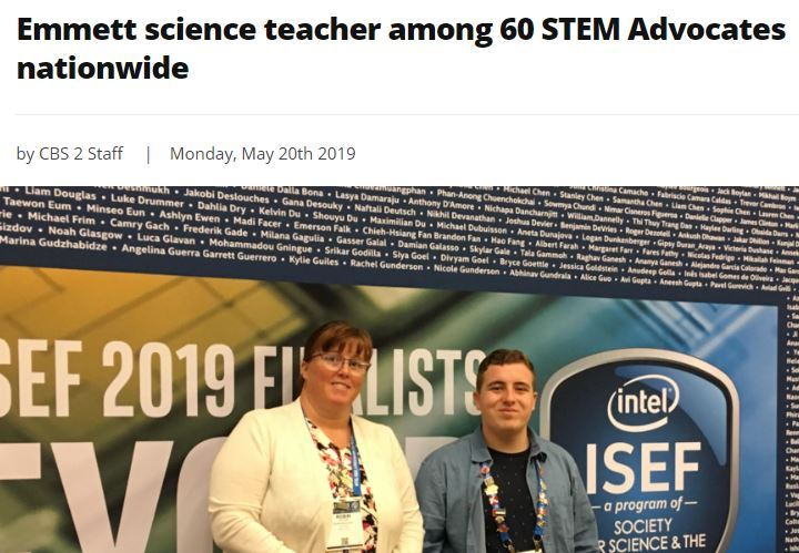 Emmett science teacher among 60 STEM Advocates nationwide