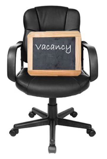 Chair with vacancy sign